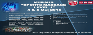 Kursus 'Sports Massage' Tahap 1